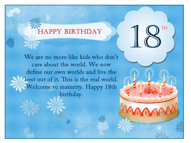 Birthday wishes for 18th birthday