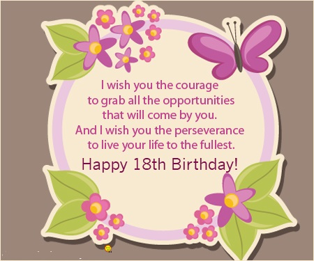happy 18th birthday messages