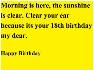 beautiful 18th birthday wishes