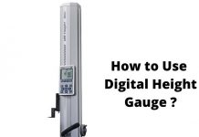 How to Use Digital Height Gauge